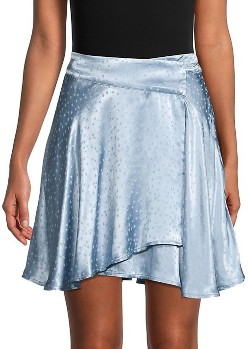 Free People Printed Mini Skirt