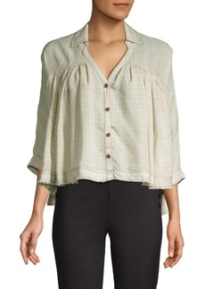 Free People Rainbow Picnic Button-Down Shirt