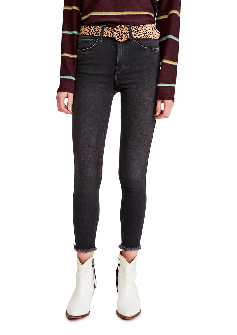 Free People Raw High Rise Jeggings