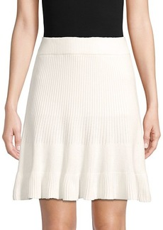 Free People Ribbed Cotton-Blend Skirt