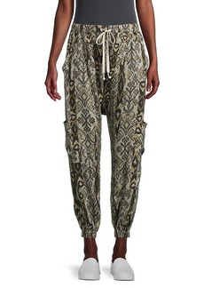 Free People Rise To The Sun Printed Harem Pants