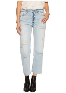 Free People Rolling On The River Straight Crop in Light Denim