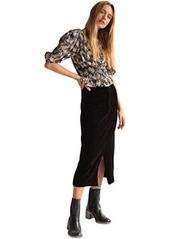 Free People Roxy Rib Pencil Skirt