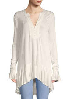 Free People Ruffled High-Low Tunic
