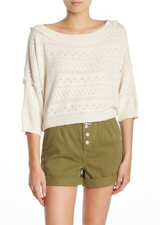 Free People Sandcastle Crop Sweater