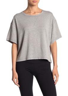 Free People Score Short Sleeve Boxy Linen Blend T-shirt