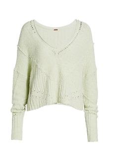 Free People Seashell Cropped Sweater