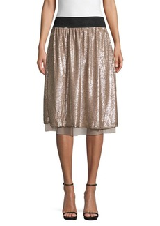 Free People Sequin Knee-Length Skirt