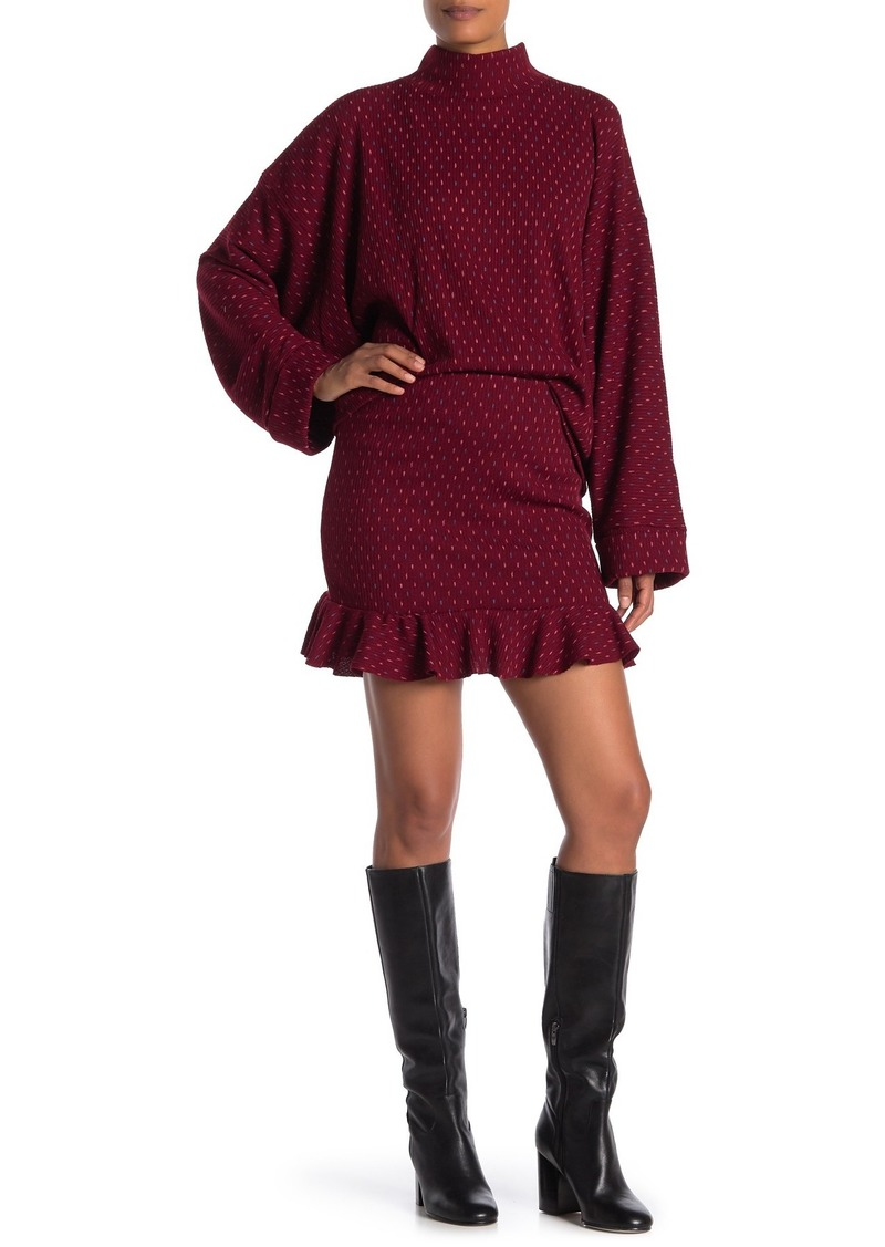 Free People Set the Mood Mock Neck Sweater & Skirt 2-Piece Set