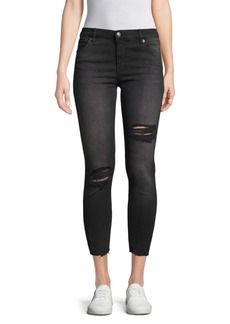 Free People Shark Bite Cropped Jeans