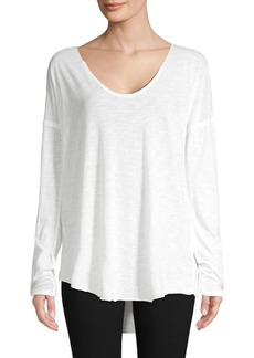 Free People Snap-Cuff Long-Sleeve Top