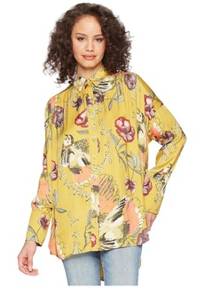 Free People Silky Nights Button Down