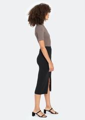 Free People Skyline Ribbed Pencil Midi Skirt - L