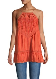 Free People Sleeveless Cotton-Blend Tunic