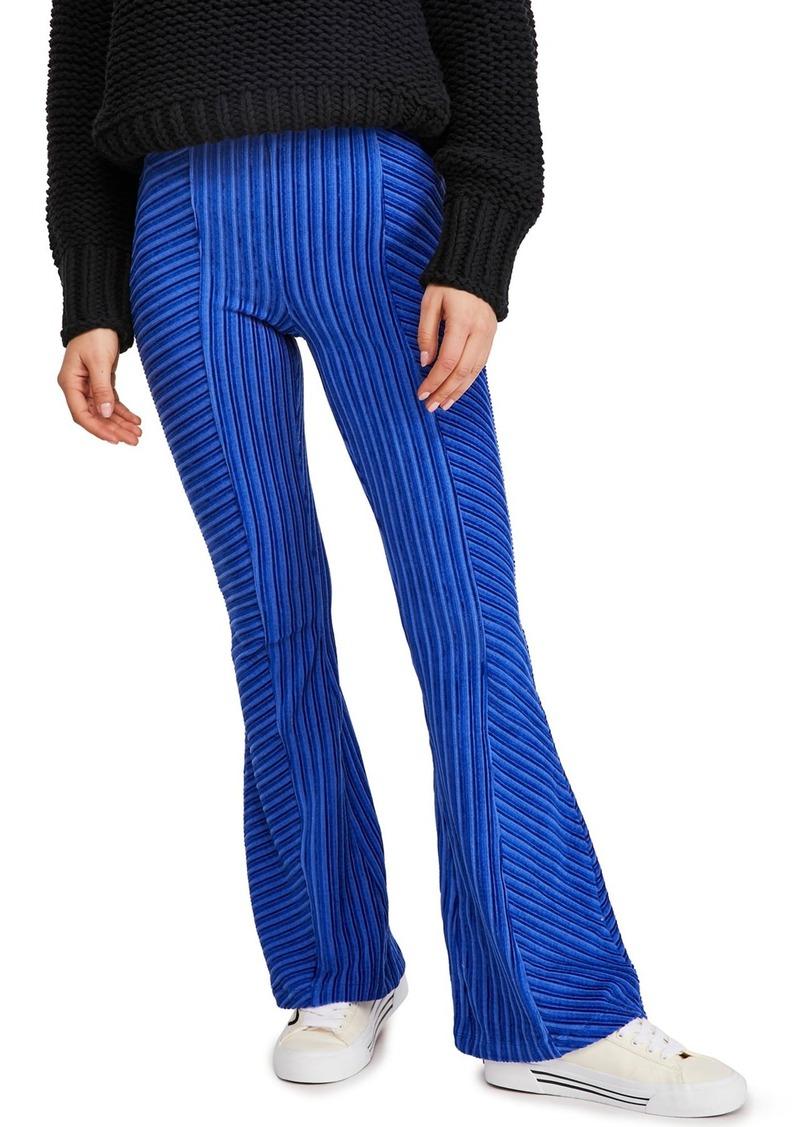 Free People Slim Pull-On Velvet Flare Pants