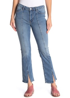 Free People Slit Cuff Cropped Bootcut Jeans