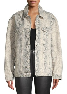 Free People Snakeskin Trucker Jacket