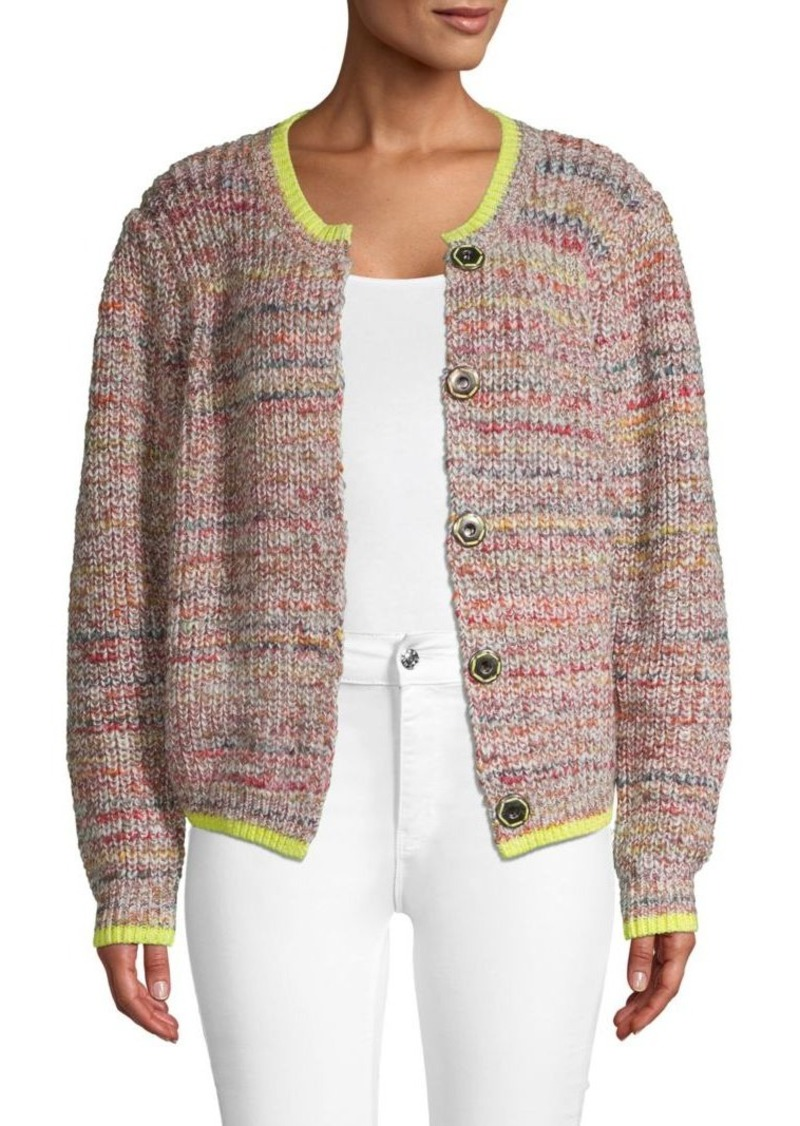 Free People Snap-Front Knitted Cardigan