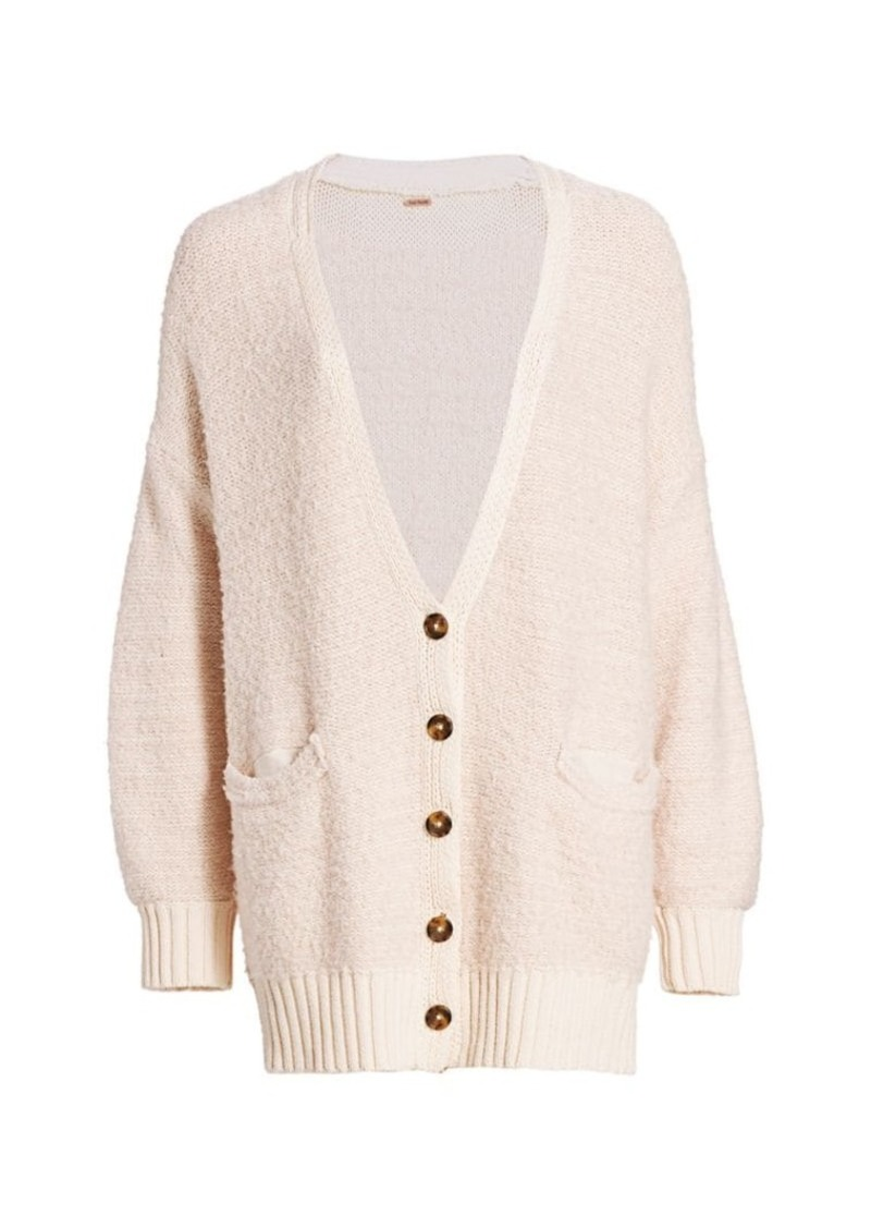 Free People Snow Drop Shoulder Cardigan
