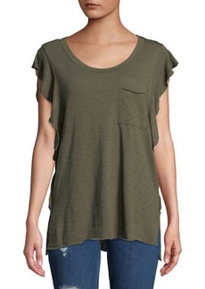 Free People So Easy Ruffle Tee