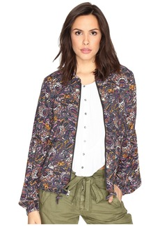 Free People Soft Printed Baloon Sleeve Jacket
