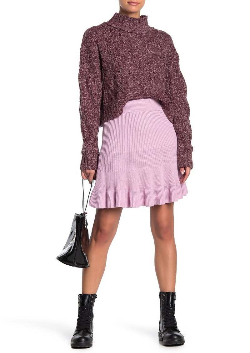 Free People Solid Gold Skirt