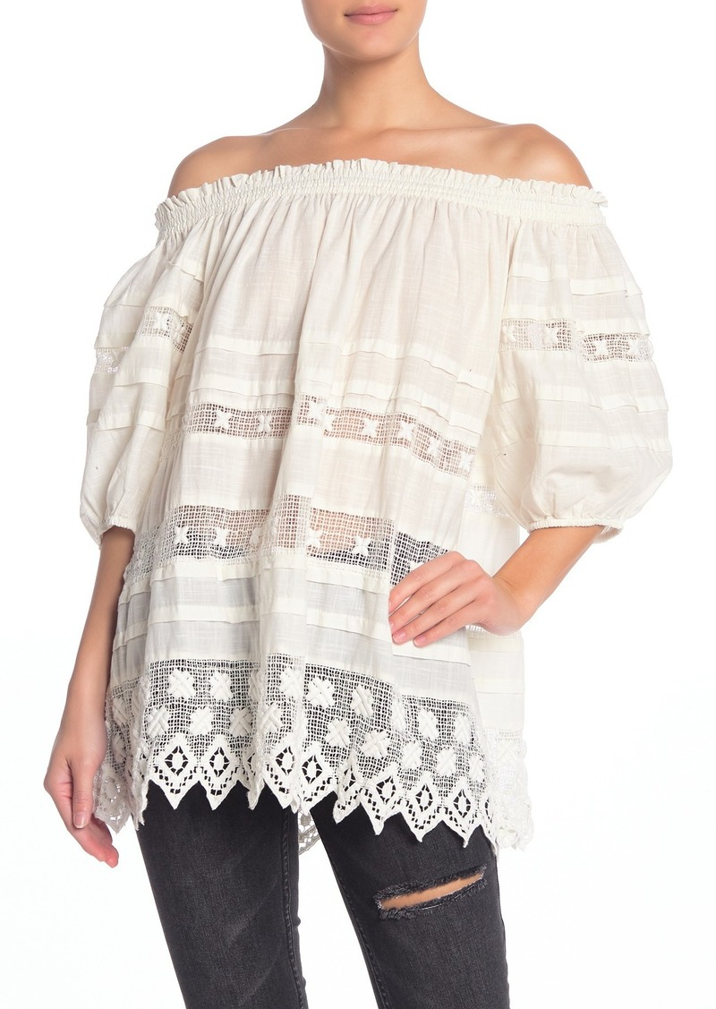 Free People Sounds of Summer Off the Shoulder Tunic Top