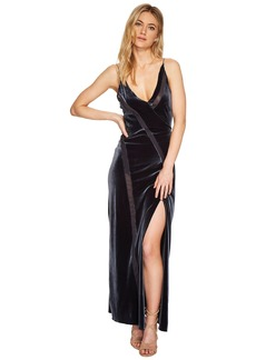Free People Spliced Velvet Maxi