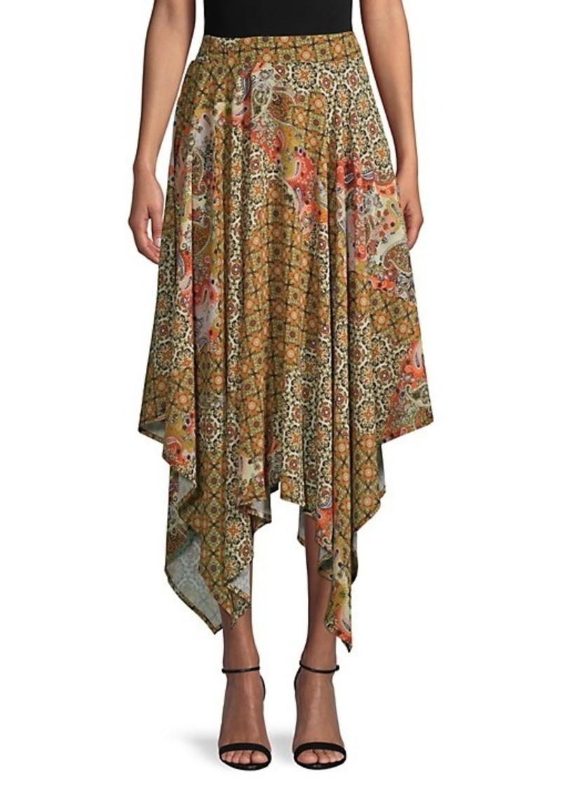 Free People Stay Awhile Print Handkerchief Skirt