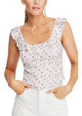 Free People Stay With You Ruffled Crop Top