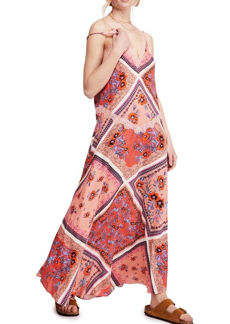 Free People Stevie Floral Lace Trim Maxi Dress