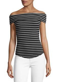 Free People Striped Off-the-Shoulder Top
