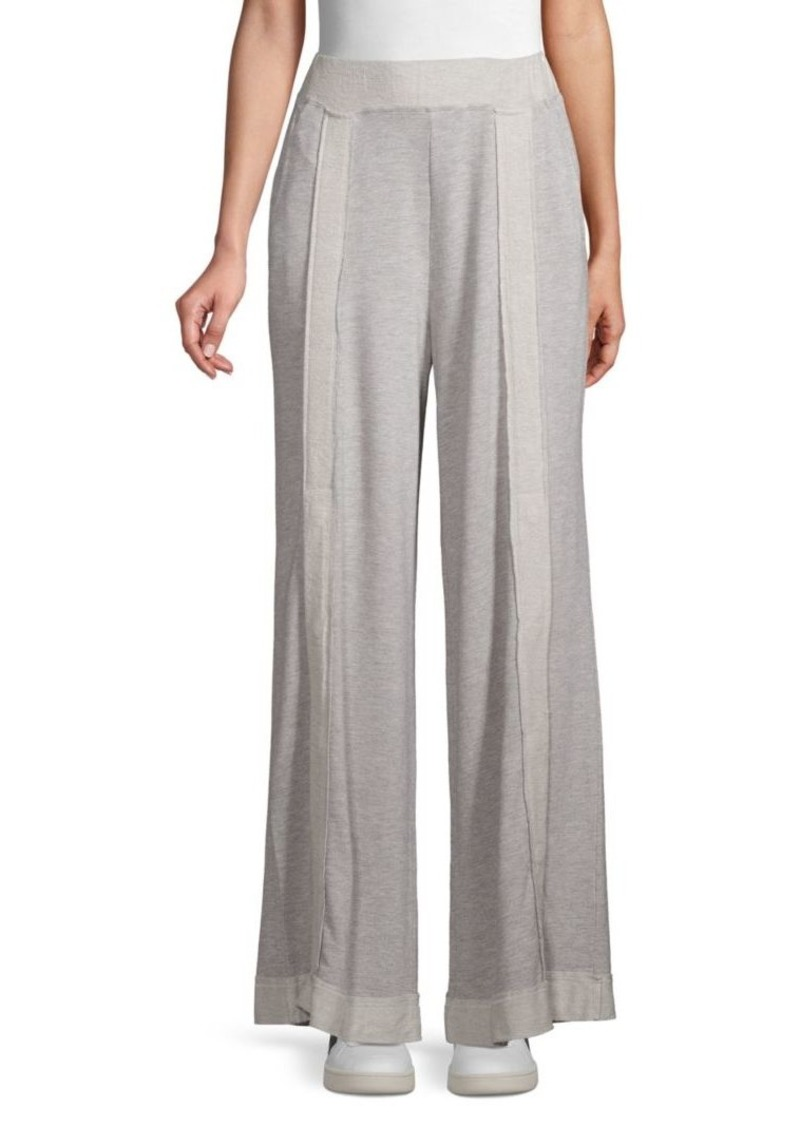 Free People Striped Wide-Leg Pants