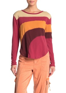 Free People Sun Downer Colorblock Stripe Long Sleeve T-shirt