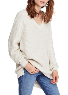 Free People Sunday V-Neck Sweater