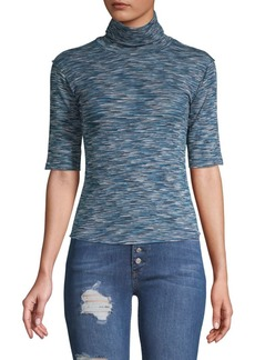 Free People Sunshine Spacedye Turtleneck Tee