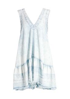 Free People Sunspray Denim Mini Dress