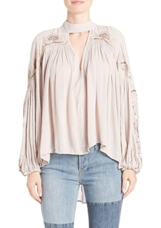 Free People Sweet Fantasy Embroidered Cutout Blouse