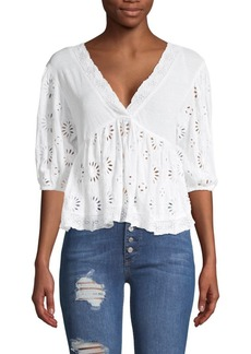 Free People Sweeter Side Eyelet Top
