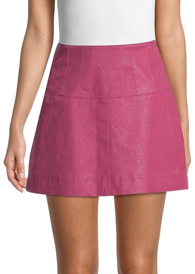 Free People Textured Mini Skirt