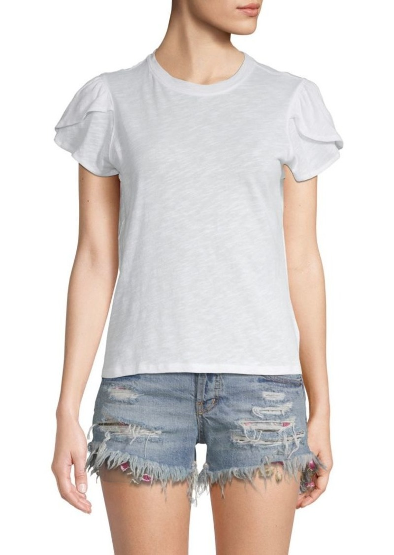 Free People Tulip-Sleeve Cotton Tee