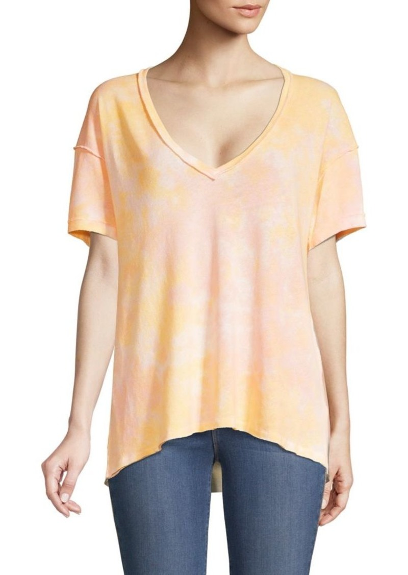 Free People V-Neck Cotton-Blend Top