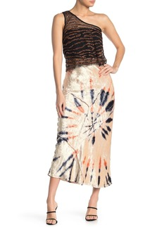 Free People Velvet Tie-Dye Maxi Skirt