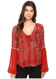 Free People Viscose Gorgette Firecracker Embellished Top