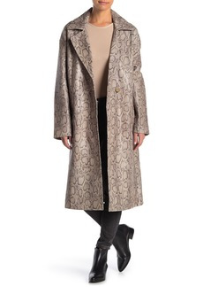 Free People Walk This Way Leather Duster