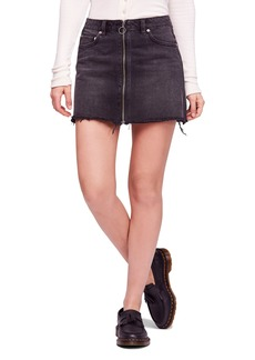 We the Free by Free People Zip It Up Denim Miniskirt