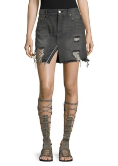 Free People We The Free Relaxed And Destroyed Skirt