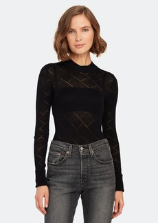 Free People What\'s The Pointelle Mock Neck Bodysuit - XL