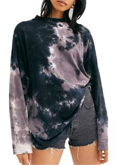 Women's Free People Be Free Tie Dye Oversize Long Sleeve T-Shirt