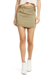 Women's Free People Night Dreamer Twist Mini Skirt